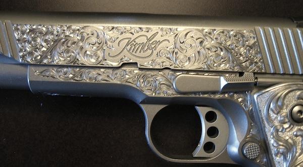 Custom Gun Engraving Kimber 1911 Handgun