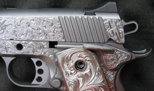 Custom Gun Engraving - Kimber 1911 Handgun